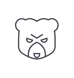 bear head sign line icon sign vector image