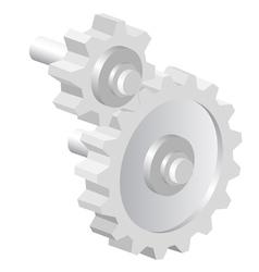 Industrial icon big steel gear vector image vector image