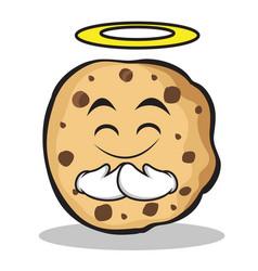 innocent face sweet cookies character cartoon vector image