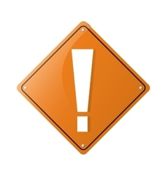 warning alert attention sign icon yellow vector image