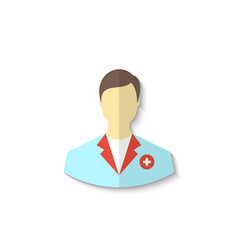 Flat icon of medical doctor with shadow isolated vector image vector image