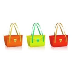 vector colorful bags vector image