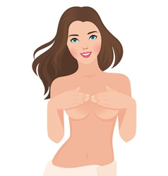 Beautiful topless girl vector image vector image