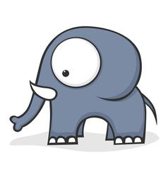 big eyed elephant vector image vector image