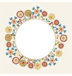 decorative flower frame with the place for text vector image