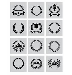 laurel wreaths icon vector image