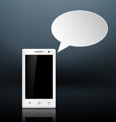 message on your smartphone vector image vector image