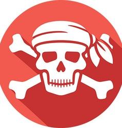 Pirate Skull Icon vector image vector image