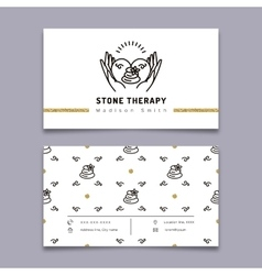 Stone therapy business card Massage beauty spa vector image vector image