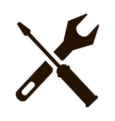 support repair tools sign icon dark vector image