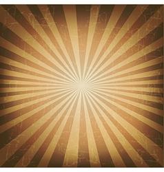 Vintage Label With Old Sunburst vector image