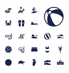 22 beach icons vector