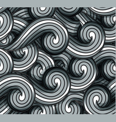 abstract seamless background gray wavy vector image