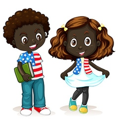 African American boy and girl vector