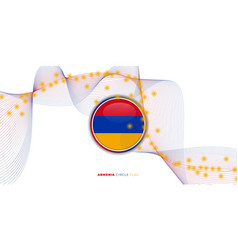 Armenia circle flag with white abstract vector