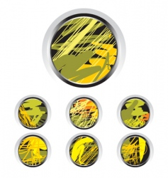 artistic buttons vector image