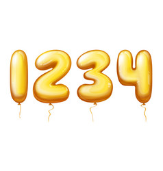 balloons numbers - one two three four vector image