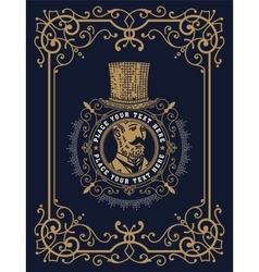 Baroque card with gentleman vector image