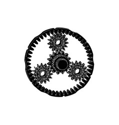 black planetary gear vector image
