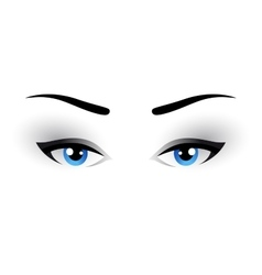 blue woman eyes makeup vector image