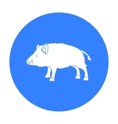 Boar icon in black style isolated on white vector