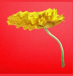 Buttercup flower sticker yellow trippy vector