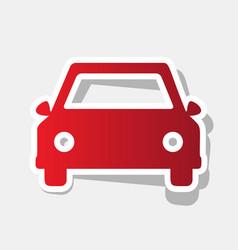 car sign new year reddish vector image