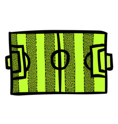Cartoon image of football field vector