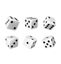 Casino dices die for table games realistic vector