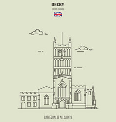 cathedral of all saints in derby vector image