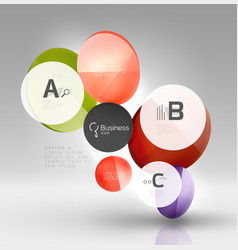 circle infographics vector image