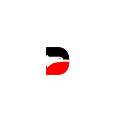 d letter eagle logo vector image