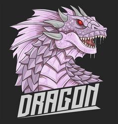 Dragon head purple vector