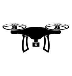 Drone toy silhouette icon vector