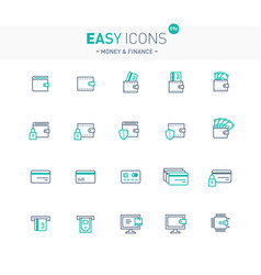 easy icons 09e money vector image