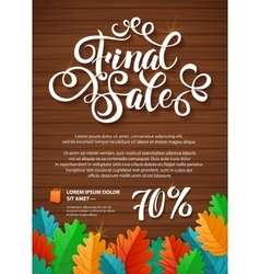 Finale sale hand lettering design template vector