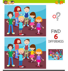 Find differences game with kids group vector