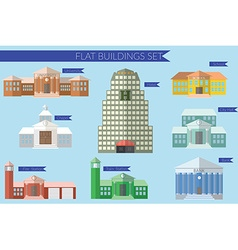 Flat design concept for building education icons vector image