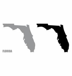 florida silhouette maps vector image