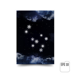 gemini constellation of snowflakes zodiac sign vector image