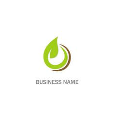 green leaf eco bio organic logo vector image
