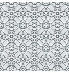 Grey lace pattern vector