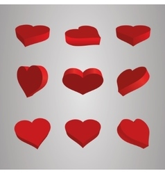 Heart Icons Set ideal for valentines day and vector image