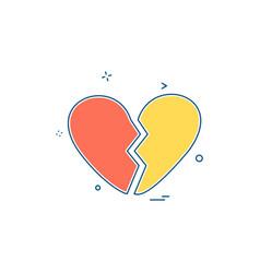hearts icon design vector image