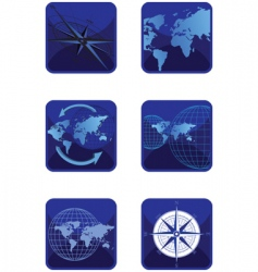 icons map vector image