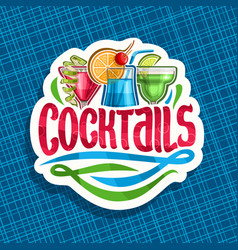 Logo for alcoholic cocktails vector