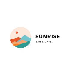logo logotype sign sunrise bar cafe vector image