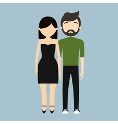 man and woman couple icon image vector image