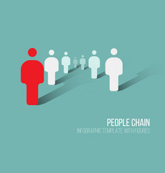 minimalist 3d people diagram template vector image