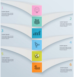 Modern minimal template infographic numbered vector